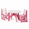 Modern Pink and White Kids Table and Chair Set