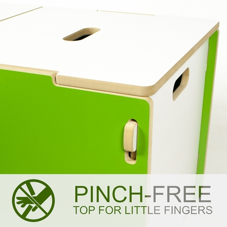 Modern Pink and White Toy Box