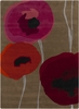 Modern Poppies Rug in Pink and Orange