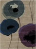 Modern Poppies Rug in Purple and Blue