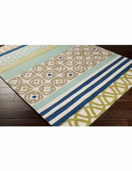 Modern Shapes Scion Rug in Blue