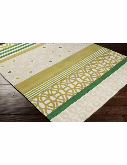Modern Shapes Scion Rug in Green