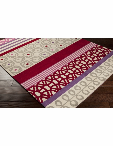 Modern Shapes Scion Rug in Red