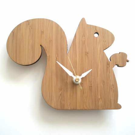 Modern Squirrel Wall Clock