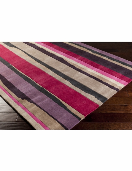 Modern Stripes Rug in Pink