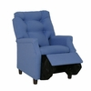 Modern Tufted Childs Recliner in Blue