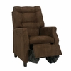 Modern Tufted Childs Recliner in Chocolate