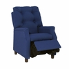 Modern Tufted Childs Recliner in Dark Blue