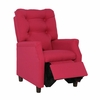 Modern Tufted Childs Recliner in Hot Pink
