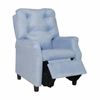 Modern Tufted Childs Recliner in Light Blue