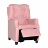 Modern Tufted Childs Recliner in Pink