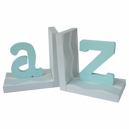 Modern Typewriter Initial Chevron Bookends