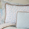 Modern Vintage Blue Pillow Sham