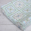 Modern Vintage Blue Large Moroccan Changing Pad Cover