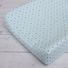 Modern Vintage Blue Octagon Cotton Changing Pad Cover