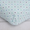 Modern Vintage Blue Octagon Crib Sheet