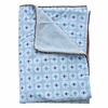 Modern Vintage Blue Octagon Piped Blanket