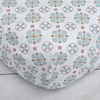 Modern Vintage Blue Small Moroccan Crib Sheet