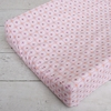 Modern Vintage Pink Octagon Cotton Changing Pad Cover