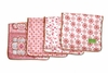 Modern Vintage Pink Small Moroccan Burp Cloth Set