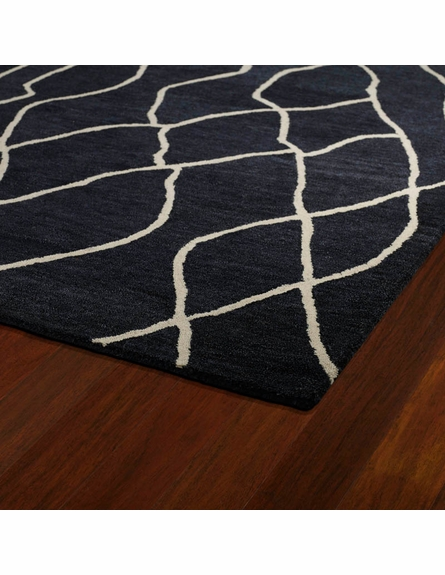 Modern Waves Casablanca Rug in Charcoal