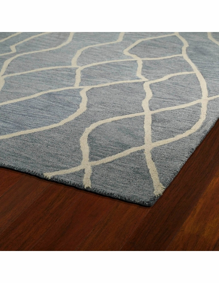 Modern Waves Casablanca Rug in Grey
