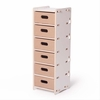 Modern White 6 Drawer Organizer