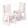 Modern White Kids Chair Set