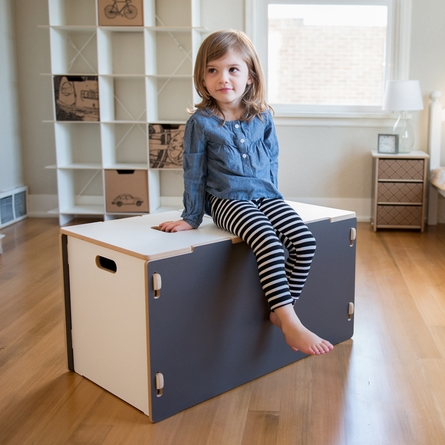Modern White Toy Box