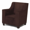 Modern Wingback Childs Chair in Chocolate