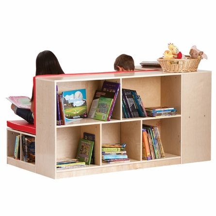 Modular Library with Storage and Seating