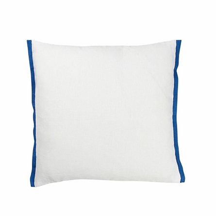 Mokuren Cobalt Throw Pillow