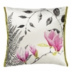 Mokuren Graphite Throw Pillow