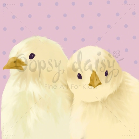 Molly & Michelle in Rosy Canvas Wall Art