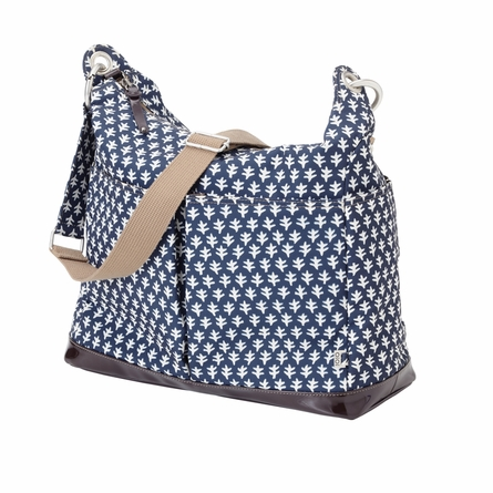 Monaco Navy Geometric Two Pocket Hobo Diaper Bag