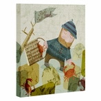 Monday Crab Walk Wrapped Canvas Art
