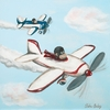 Monkey Air Show Canvas Reproduction