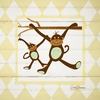 Monkey Argyle Canvas Wall Art