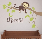 Monkey Branch Fabric Wall Decal