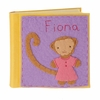 Monkey Girl Felt Patch Personalized Photo Album
