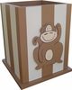 Monkey Waste Basket in Brown