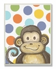 Monkey with Polka Dots Wall Plaque