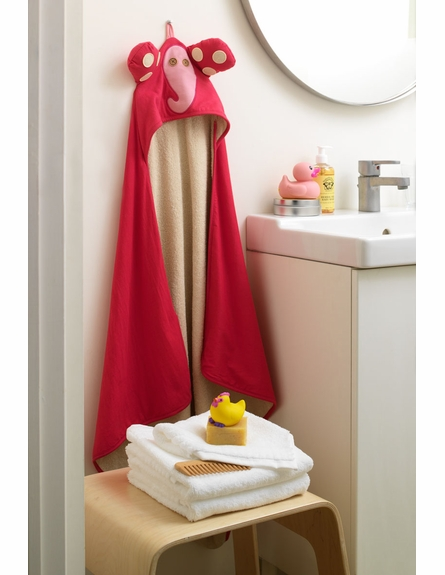 Monkey Yellow Cotton Hooded Towel