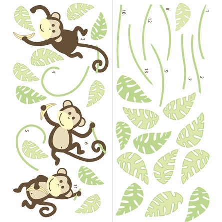 On Sale Monkeying Around Peel & Stick Wall Decals