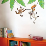 Monkeys on a Liana Wall Decal