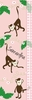 Monkeys on Pink Growth Chart