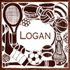 Monochromatic Sports in Brown Canvas Wall Art
