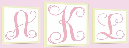 Monogram Canvas Art Set of 3
