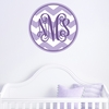 Monogram Chevron Personalized Fabric Wall Decal