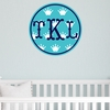 Monogram Crown Personalized Fabric Wall Decal